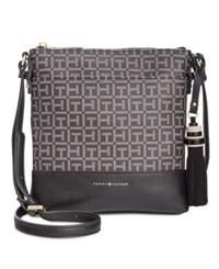 Tommy Hilfiger Grace North South Coated Crossbody Black Pepper