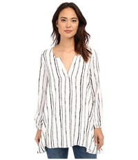 Brigitte Bailey Seal Striped Blouse Navy White Stripe Women's Blouse