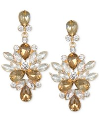 Jewel Badgley Mischka Crystal And Stone Drop Earrings Gold