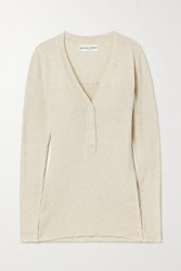 Apiece Apart Rio Ribbed Cotton And Cashmere Blend Sweater Beige