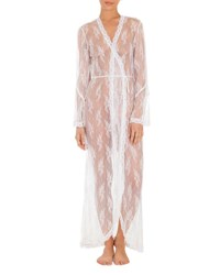 Jonquil Petal Sheer Lace Robe White