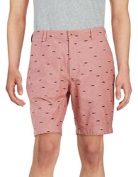 Brooks Brothers Shark Chambray Bermuda Shorts Red
