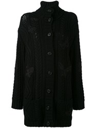Valentino Single Breasted Coat Women Polyester Virgin Wool M Black