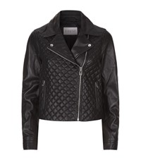 Claudie Pierlot Classy Quilted Leather Jacket Female Black