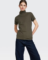 Aspesi Short Sleeved Turtleneck Green