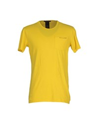 Daniele Alessandrini Topwear T Shirts Men Yellow