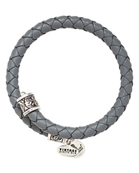 Alex And Ani Vintage 66 Braided Leather Wrap Bangle Spring Shower Rafaelian Silver