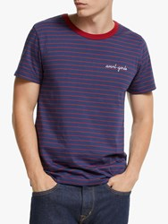 Maison Labiche Avant Garde Striped T Shirt Night Burgundy