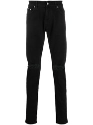 Represent Distressed Skinny Jeans Black