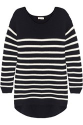 Chinti And Parker Striped Merino Wool Sweater Navy