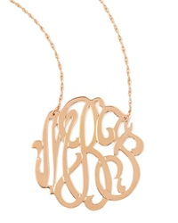 Jennifer Zeuner Jewelry Jennifer Zeuner Rose Gold Initial Necklace Rose Gold