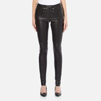 Gestuz Women's Alou Leather Pants Black