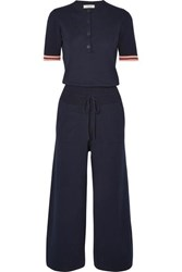 Chinti And Parker Day Dreamer Cotton Jumpsuit Navy