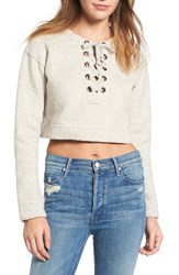 Mother Women's The Tie Up Crop Sweatshirt
