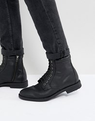 Kg By Kurt Geiger Military Lace Up Boots Black