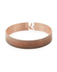 Fragments For Neiman Marcus Ombre Crystal Choker Rose Gold