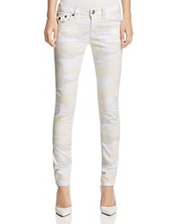 True Religion Camo Print Skinny Jeans In Winter White Compare At 189