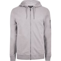 River Island Big And Tall Grey Marl Zip Front Hoodie