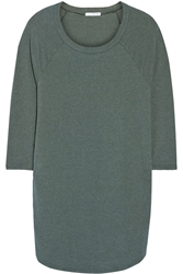 James Perse Raglan Sleeve Cotton Blend Jersey Mini Dress