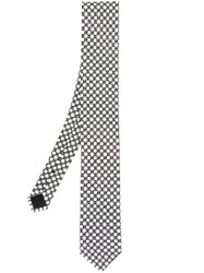 Dolce And Gabbana Dotted Tie Black