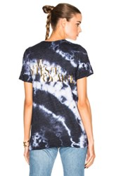 Rodarte Love Hate Foil Crystal Tie Dye T Shirt In Blue Ombre And Tie Dye Blue Ombre And Tie Dye