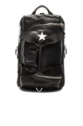 Givenchy Leather And Star Backpack In Black