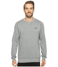 Nike Range Sweater Crew Carbon Heather Metallic Silver Men's Sweater Gray