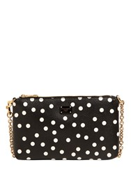 Dolce And Gabbana Polka Dot Printed Faux Leather Clutch