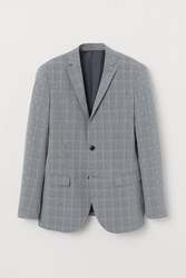 Handm H M Slim Fit Blazer Gray