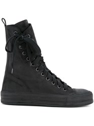 Ann Demeulemeester Off Centre Lace Up Boots Women Leather 36 Black