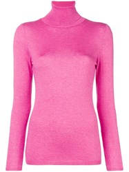 Snobby Sheep Roll Neck Fine Knit Sweater Pink And Purple