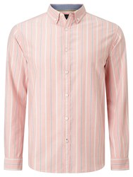 John Lewis Preppy Stripe Oxford Shirt Pink