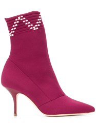 Malone Souliers Mariah Boots Pink And Purple