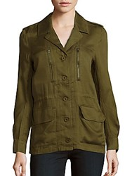 French Connection Solid Utility Twill Jacket Dark Olive