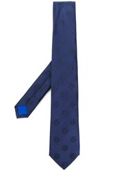 Kenzo Tiger Embroidered Tie Blue