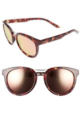 Smith Optics Women's 'Bridgetown' 54Mm Aviator Sunglasses Mulberry Tortoise Gold Mirror Mulberry Tortoise Gold Mirror