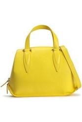 Delpozo Benedetta Leather Shoulder Bag Bright Yellow