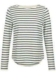 Fat Face Breton Stripe Top Ivory