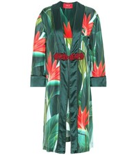 For Restless Sleepers Silk Dressing Gown Green