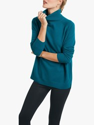 Hush Cashmere Roll Neck Jumper Teal