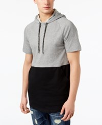 American Rag Colorblocked Hoodie Grey Black