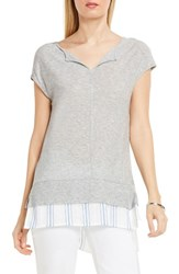 Vince Camuto Women's Two By Shirttail Hem Tee