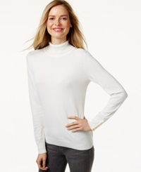 Charter Club Long Sleeve Turtleneck Sweater Only At Macy's Vintage Cream