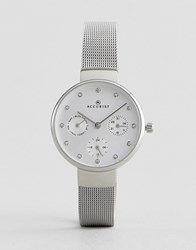 Accurist Silver Mesh Chronograph Watch