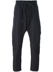 Attachment Dropped Crotch Trousers Blue