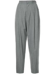 Astraet High Waist Fitted Trousers Grey