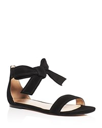 Ivanka Trump Carthe Suede Ankle Tie Sandals Black
