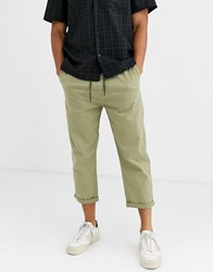 Brooklyn Supply Co. Co Track Fit Trousers In Khaki Green
