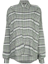 Moohong Checked Double Shirt Grey