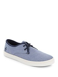 Penguin Blake Lace Up Round Toe Sneakers Navy